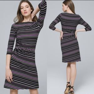 White House Black Market Striped Long Sleeve Dress